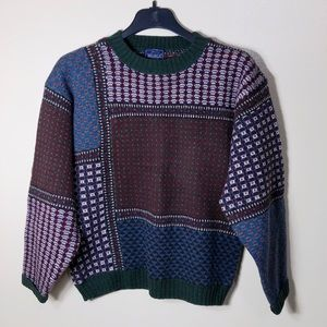 🔵The Woolrich Woman Geometric Color Block Sweater
